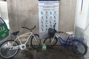Las dos bicicletas fueron robadas en las últimas horas en el centro platense
