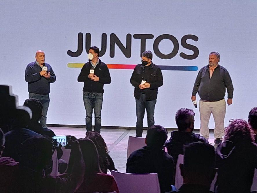 Andrés De Leo, Maxi Abad, Jorge Macri y Joaquín De La Torre salieron a mostrar unidad. Los resultados del boca de urna eran favorables al Frente de Todos.