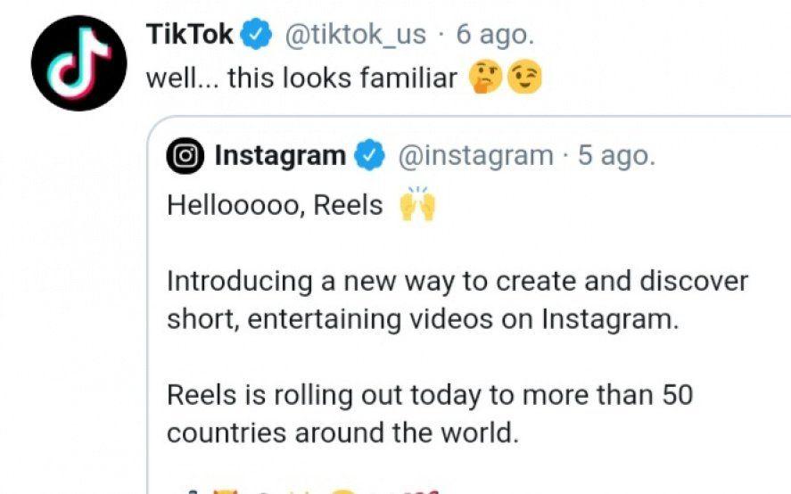 Me suena familiar: TikTok se burló de la nueva herramienta de Instagram