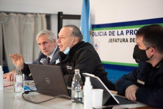 Berni y Conte Grand presentaron datos sobre el delito en la Provincia