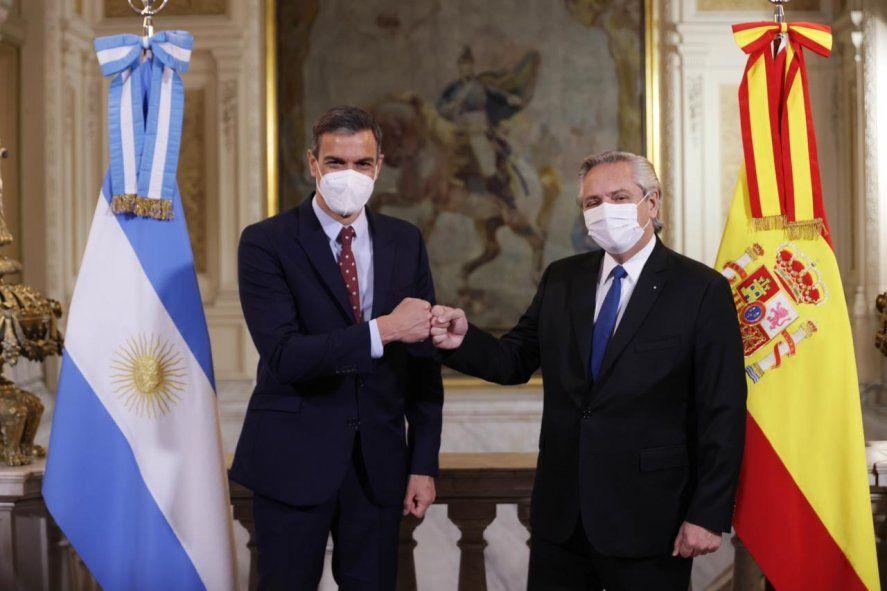 Alberto Fernández recibió al presidente de España
