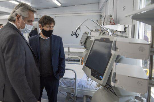 el gobierno inauguro cuatro hospitales modulares y un mega hospital en la matanza