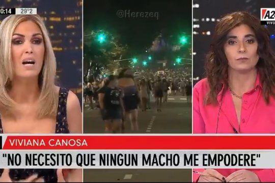E el pase con Novaresio, Viviana Canosa discutió con la columnista Rosario Ayerdi sobre la violencia hacia las mujeres argumentando que los hombres también la sufren de igual modo