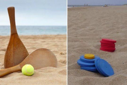 el clasico del verano se juega en la playa: ¿tejo o paleta?