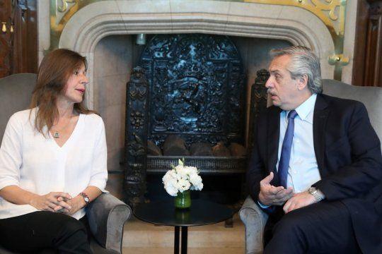 Sabina Frederic apoyó al presidente Alberto Fernández.