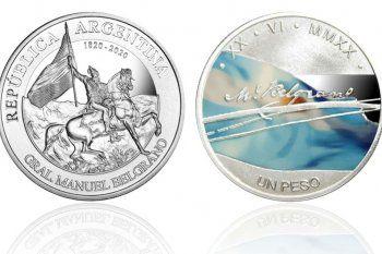 El Banco Central emitió una moneda en colores, enhomenaje a Manuel Belgrano