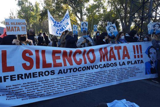 Enfermeros de La Plata reclamos mejores salarios