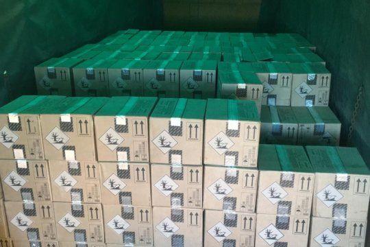 recuperan 250 cajas de agroquimicos que habian sido robadas en pergamino
