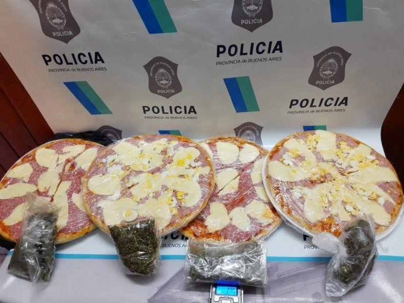Las cuatro pizzas en las que hallaron marihuana en una cárcel de Melchor Romero