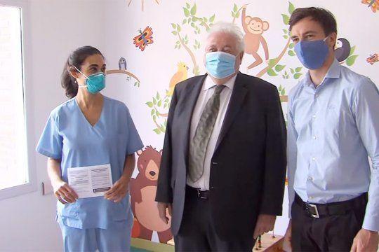 GinésGonzález García inauguró el Plan Federal de Vacunación en el Hospital