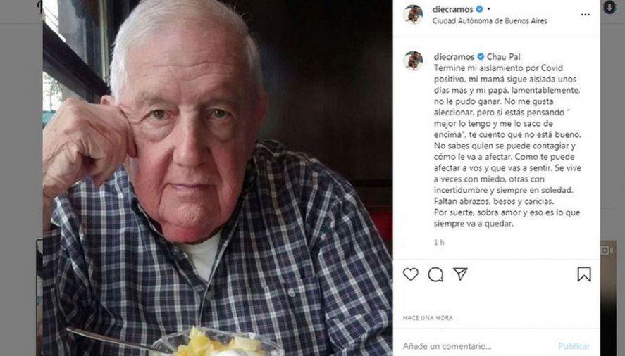 El padre de Diego Ramos murió de coronavirus
