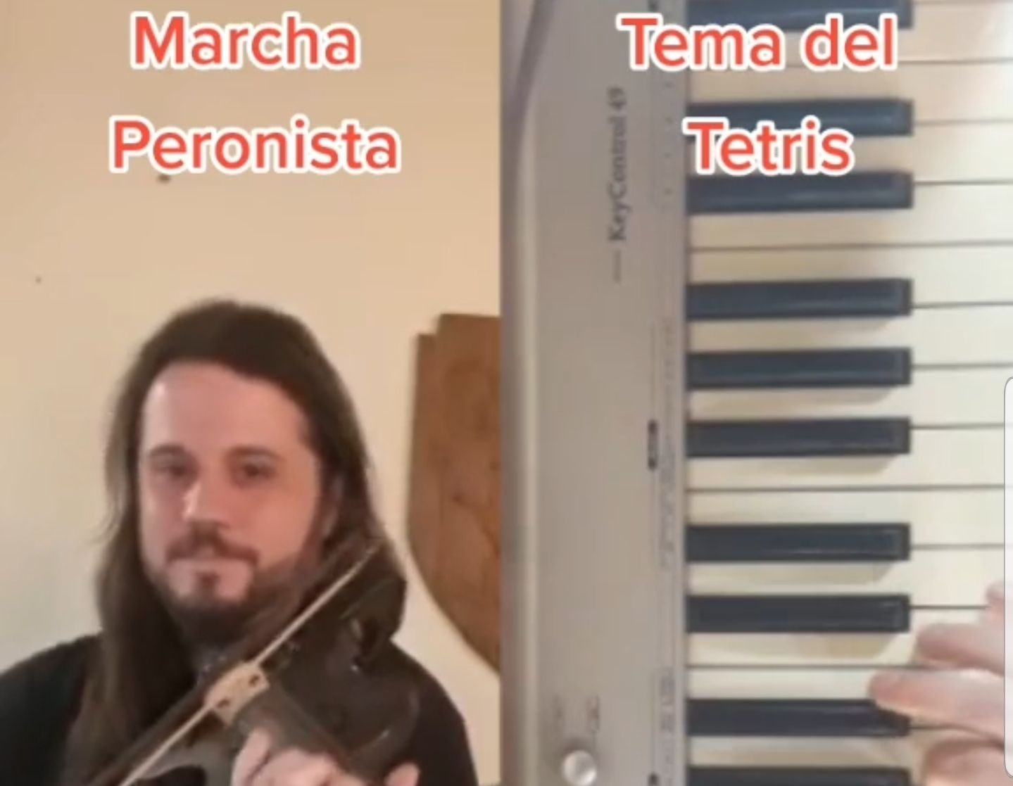 la marcha peronista y el tetris comparten acordes identicos