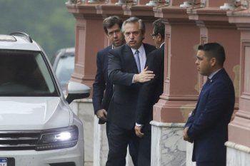 Alberto Fernández y los referentes del Frente de Todos mantienen una reunión en Casa Rosada.