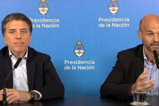 Los ex ministros de Hacienda, Nicolás Dujovne, y de Transporte, Guillermo Dietrich. Están procesados en la causa peajes.