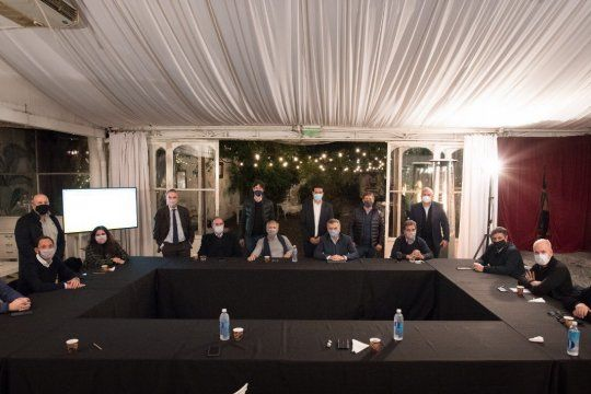 La mesa de Juntos por el Cambio, que se reunió a fines de junio y todavía no pudo definir su interna bonaerense para las elecciones 2021.