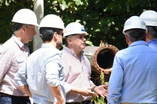 el titular de absa superviso las tareas de reparacion en la usina de bosques como primera actividad tras su desginacion