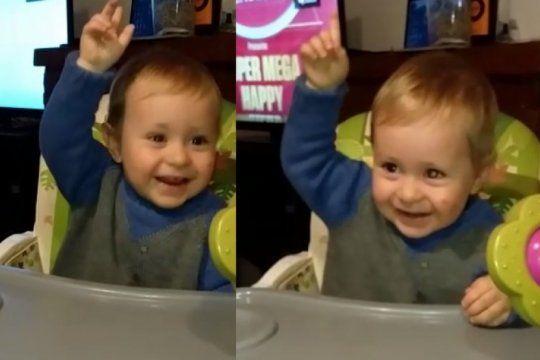 bebe ?companero?: el divertido video de un nene fanatico de la marcha peronista que compartio pablo echarri