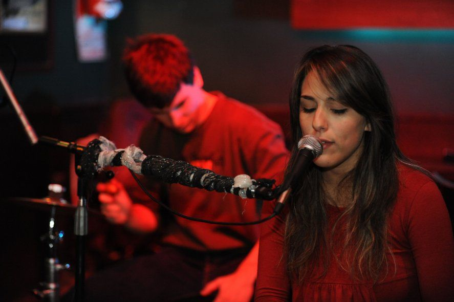 Lucía Giles en concierto.