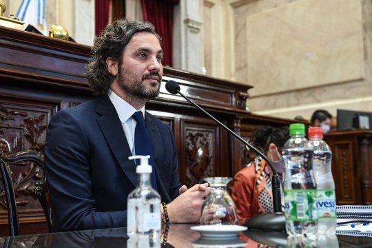 Santiago Cafiero cruzó fuerte a la oposición en el Senado.