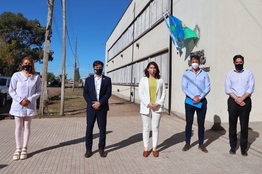 El gobernador bonaerense Axel Kicillof participó desde Moreno de Inauguración de nuevos edificios y obras educativas.
