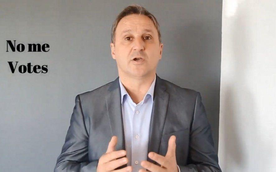 No se vota ni él: el candidato a Gobernador de Gómez Centurión salió a pedir que voten a Macri y Vidal