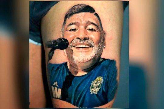 Monti inmortalizó a Maradona.