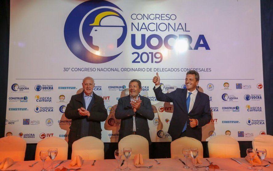 Sergio Massa y Roberto Lavagna se mostraron juntos en una actividad con varios dirigentes gremiales
