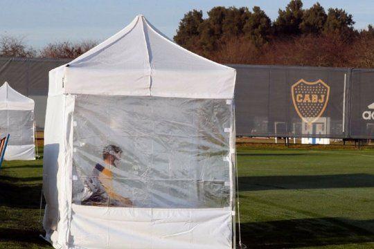 Medidas sanitarias en Boca por pedido de la AFA en la vuelta del fútbol argentino en 2020