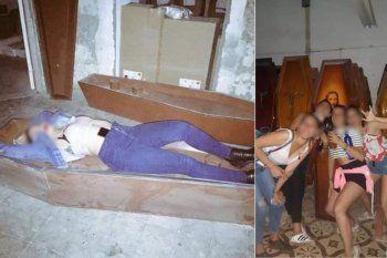 La fiesta clandestina de Las Rosas en la fábrica de ataúdes pudo ser desbaratada.