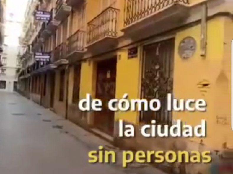 Un video del Viajero del tiempo de TikTok que dice estar grabándolos en el año 2027 desde Valencia