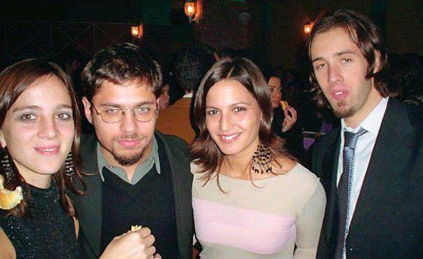 Mercedes D'Alessandro, Axel Kicillof y Pablo López (derecha), a principios de los años 2000.