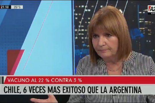 Patricia Bullrich pidió que las vacunas se descentralicen y privaticen