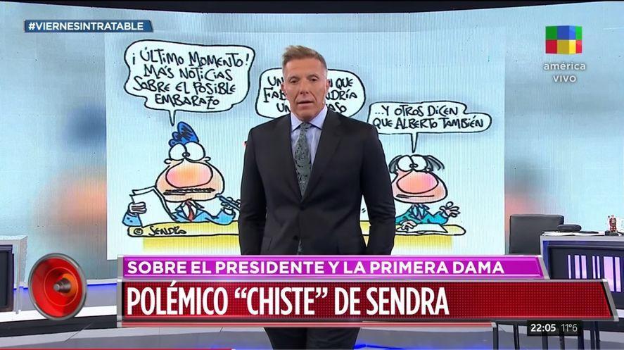 Chiste en Clarín insinuó retraso mental de Alberto Fernández