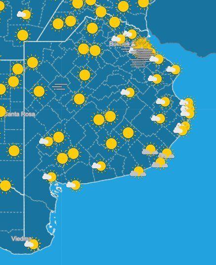El SMN informó cómo está el tiempo este viernes en la Provincia y pronosticó el clima para el fin de semana largo.