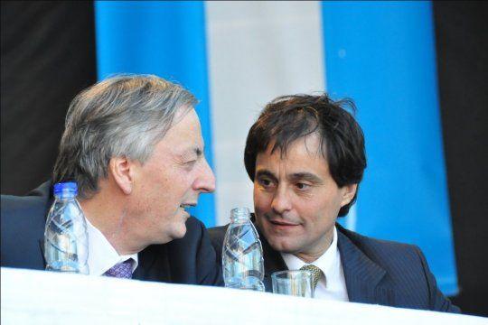Néstor Kirchner junto a Aníbal Pittelli, en Chivilcoy. Fue días antes de la muerte del Expresidente.