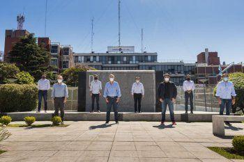 El Grupo Dorrego en la última cumbre que mantuvieron, en Lanús. Esta vez, en La Plata, están convocados todos los intendentes de Juntos por el Cambio.