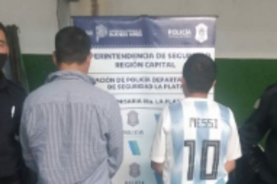 El falso Messi fue detenido en 7 y 523 junto a otro joven