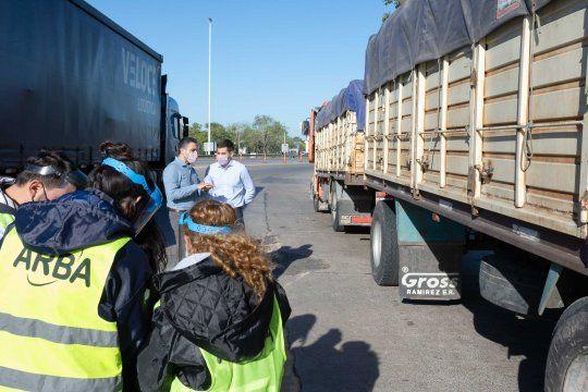 ARBA salió a controlar camiones que transportan granos
