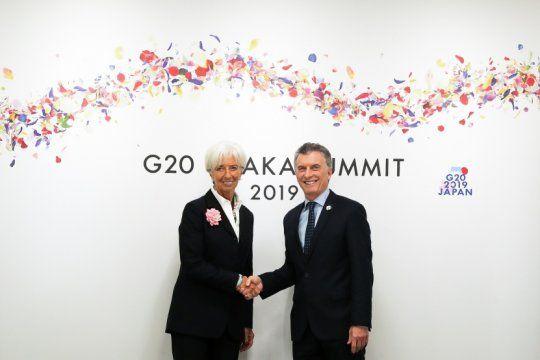 Mauricio Macri junto a la ex directora del FMI,Christine Lagarde