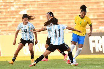 El fútbol femenino de Argentina no pudo en su segundo amistoso con Brasil.