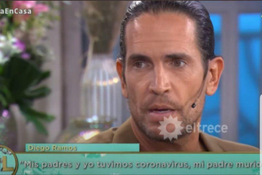 El conmovedor relato de Diego Ramos frente a la muerte de su padre por Coronavirus