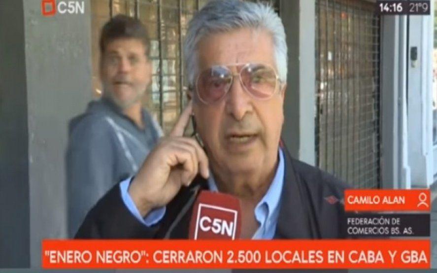 La burla de Alfredo Casero a una cámara de C5N mientras hablaban de los despidos en la era Macri