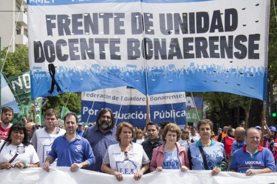 Los docentes bonaerenses reclamaron que los convoquen a paritarias para discutir salarios del 2021