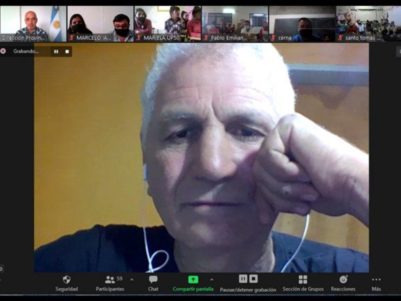 Juan Martín Látigo Coggi brindó una charla por la plataforma Zoom a cerca de 600 personas que se encuentran privadas de su libertad