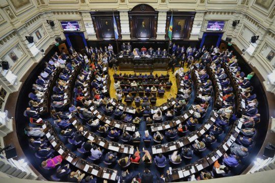 Así lucía la Legislatura el 2 de marzo de 2020, cuando Kicillof la visitó por última vez.