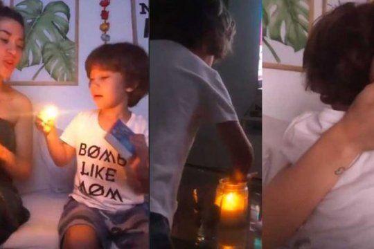 polemica en las redes: el accidentado juego de jimena baron con su hijo momo