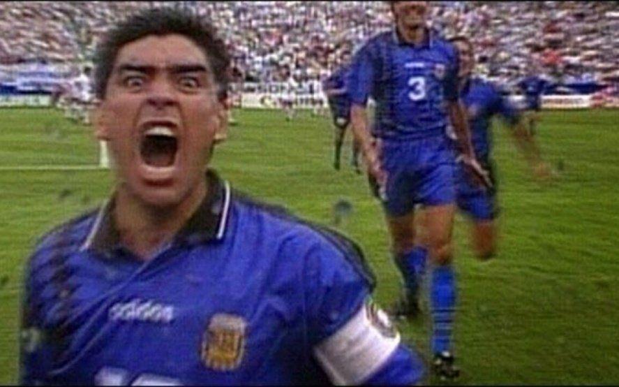 """Se cumplen 25 años de """"el grito"""" la última obra de Maradona con la Selección"""