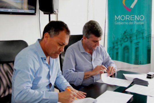 pacto de colaboracion: hurlingham donara cinco mil lamparas al municipio de moreno