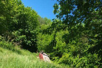 La camioneta volcó en el parque Pereyra y su conductor, un hombre de 39 años, murió