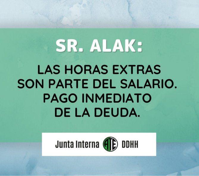 Estatales le exigen a Alak que les paguen las horas extras